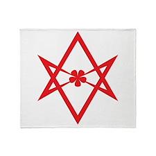 Unicursal hexagram (Red) Throw Blanket