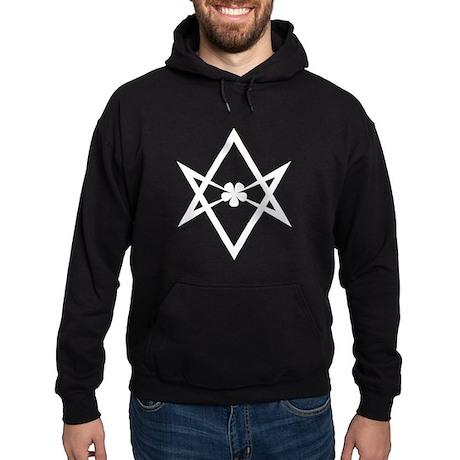 Unicursal hexagram (White) Hoodie (dark)