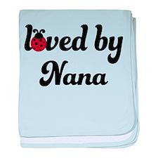 Loved By Nana Ladybug baby blanket