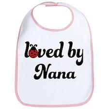 Loved By Nana Ladybug Bib