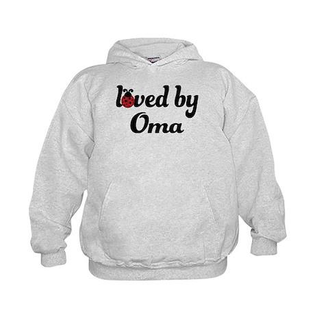 Loved By Oma Ladybug Kids Hoodie
