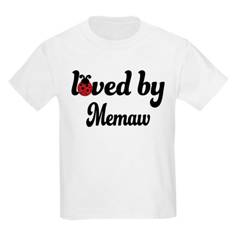 Loved By Memaw Ladybug Kids Light T-Shirt