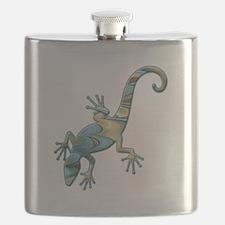 Swirl Lizard Flask
