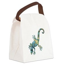 Swirl Lizard Canvas Lunch Bag