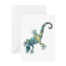 Swirl Lizard Greeting Card