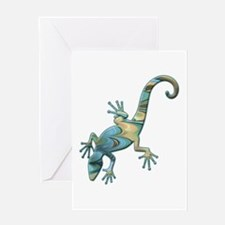 Swirl Lizard Greeting Card