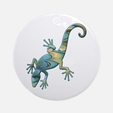 Swirl Lizard Ornament (Round)