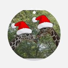 Christmas Giraffes Ornament (Round)