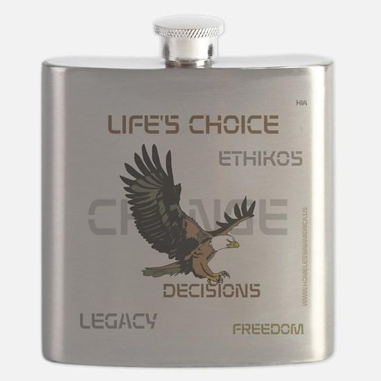HIA Eagle design Flask
