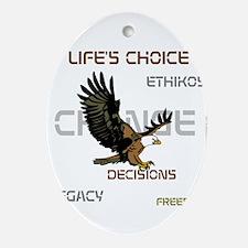 HIA Eagle design Ornament (Oval)
