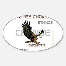 HIA Eagle design Sticker (Oval)