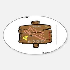 HIA Bin Dining design Sticker (Oval)
