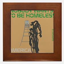 HIA Homeless Bicycle design Framed Tile
