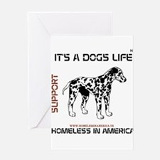 HIA Its A Dogs Life design Greeting Card
