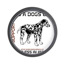 HIA Its A Dogs Life design Wall Clock