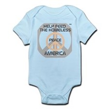 HIA HelpFeedHomeless Peace design Infant Bodysuit