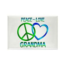 Peace Love Grandma Rectangle Magnet