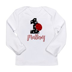 1 Ladybug MALLORY - Custom Birthday Long Sleeve In