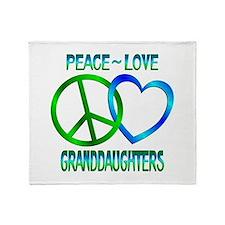 Peace Love Granddaughters Throw Blanket