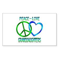 Peace Love Granddaughters Decal