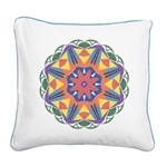 A Colorful Star Square Canvas Pillow