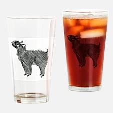 Llama at the llama pageant Drinking Glass