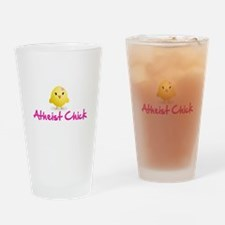 Atheist Chick Drinking Glass