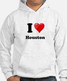 I Heart Love Houston.png Hoodie