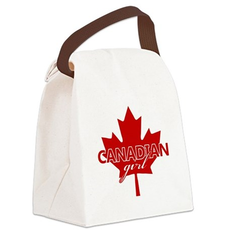 Canadian Girl Canvas Lunch Bag