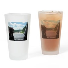 Topographical Foo Drinking Glass