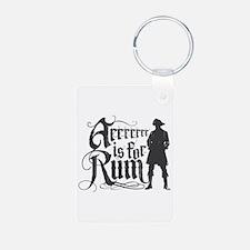 Arrrrrrr is for Rum Keychains