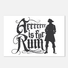 Arrrrrrr is for Rum Postcards (Package of 8)