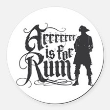 Arrrrrrr is for Rum Round Car Magnet