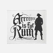 Arrrrrrr is for Rum Throw Blanket
