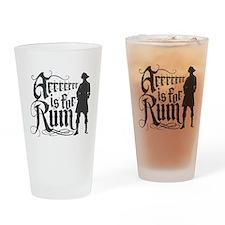 Arrrrrrr is for Rum Drinking Glass