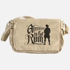 Arrrrrrr is for Rum Messenger Bag