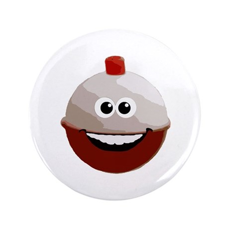 "Happy bobber 3.5"" Button"