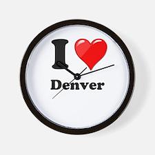 I Heart Love Denver.png Wall Clock