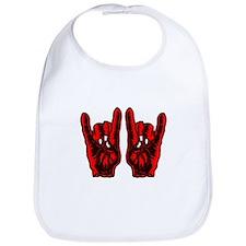 Metal Hands (Malocchio) Red Bib