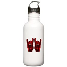 Metal Hands (Malocchio) Red Water Bottle