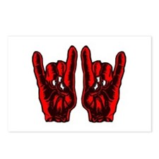 Metal Hands (Malocchio) Red Postcards (Package of