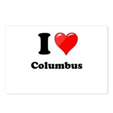 I Heart Love Columbus.png Postcards (Package of 8)