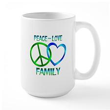 Peace Love Family Mug