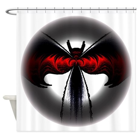 Red Winged Bat Shower Curtain