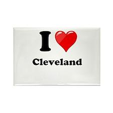I Heart Love Cleveland.png Rectangle Magnet