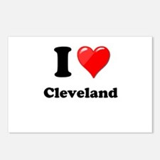 I Heart Love Cleveland.png Postcards (Package of 8