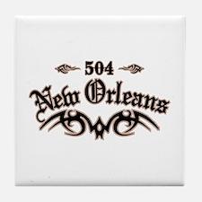 New Orleans 504 Tile Coaster