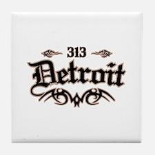 Detroit 313 Tile Coaster