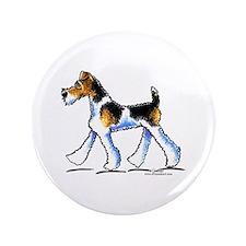 "Wire Fox Terrier Trot 3.5"" Button"