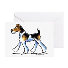 Wire Fox Terrier Trot Greeting Card